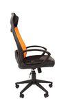 Кресло для руководителя Chairman CHAIRMAN 840 black  Сетчатый акрил/оранжевый