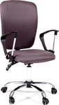 Офисное кресло для оператора CHAIRMAN 9801 Chrome темно-серый