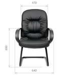 Кресло для посетителя Chairman 416V Черное Эко